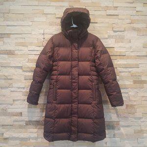 Patagonia Womens Medium Brown Long Length Winter Puffer Jacket Ladies Down Coat